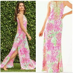 Lilly Pulitzer Carlotta Pink Maxi Dress Size 4